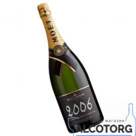 Шампанське Моєт Шандон Брют Вінтаж 2006 в коробці біле сухе