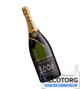 Шампанське Моєт Шандон Брют Вінтаж 2006 в коробці біле сухе, Moet + Chandon Brut Vintage 2006 gift box 0,75 л.