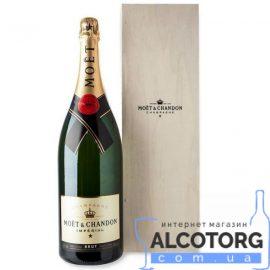 Шампанське Моєт Шандон Брют Імперіал біле сухе, Moet + Chandon Brut Imperial 3 л.