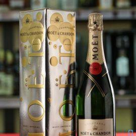 Шампанське Моєт Шандон Брют Імперіал біле сухе, Moet & Chandon Brut Imperial Bubbly Eoy 15 0,75 л.