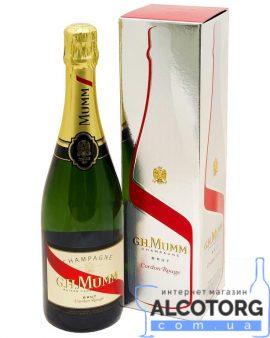 Шампанське Мумм Кордон Руж Брют в коробці
