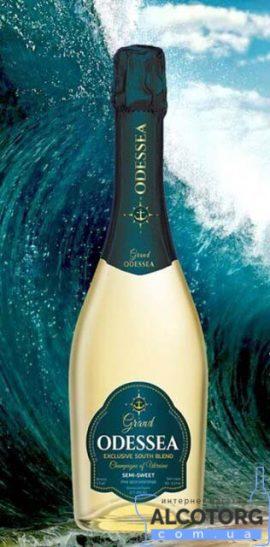 75 л. Шампанское Гранд Одисея белое полусладкое 0