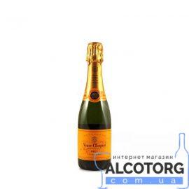 Шампанское Вдова Клико Брют в коробке белое, Veuve Clicquot Ponsandin Brut 0,375 л.