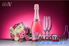 Вино Ігристе Вілла Крим Розе напівсолодке, Villa Krim Rose 0,75 л.