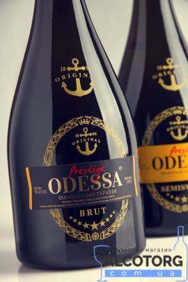Шампанське Одеса Престиж біле брют, Odessa Prestige Brut 0,75 л.