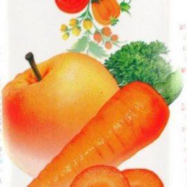 Сік морквяно яблучний з м'якоттю Соки України 0,2 л.