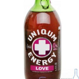 Напій енергетичний слабогазований Energy & Uniqum Love грейпфрут-малина 0,33л