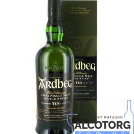 Віскі Ардбег 10 років в коробці, Ardbeg 10 years gift box 0,7 л.