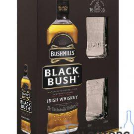 Віскі Бушміллс Блек +2 стакани в коробці, Bushmills Black + 2 glasses 0,7 л.