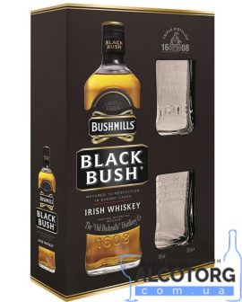 Віскі Бушміллс Блек +2 стакани в коробці, Bushmills Black + 2 glasses 0,7 л.