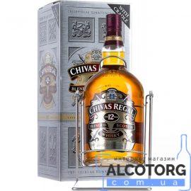 Віскі Чівас Рігал 12 років в подарунковій коробці, Chivas Regal 12 years old with box 4,5 л.