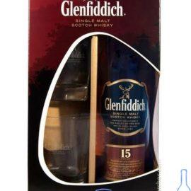 Віскі Гленфіддік 15 років + 2 бокала в коробці