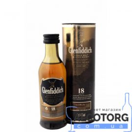 Віскі Гленфіддік 18 років, Glenfiddich 18 years 0,05 л.