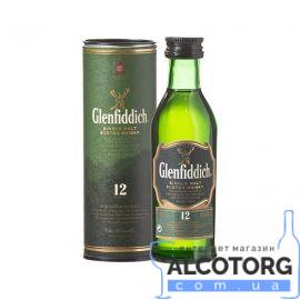 Віскі Гленфіддік 12 років, Glenfiddich 12 years 0,05 л.