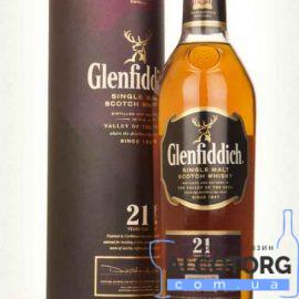 Віскі Гленфіддік 21 рік в тубусі, Glenfiddich 21 years 0,7 л.