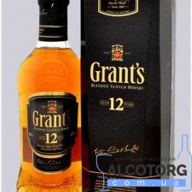 Віскі Грантс 12 років в коробці, Grant's 12 years old 0,75 л.