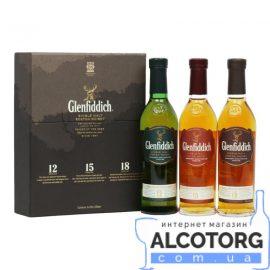 Віскі Набір Гленфіддік 12 років 15 років 18 років, Glenfiddich 12 years оld 15 years old 18 years old 0,2 л.