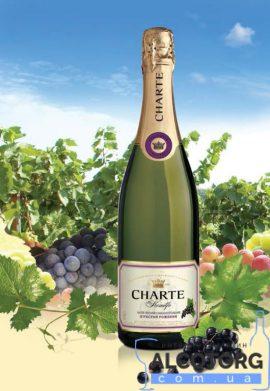 Винний напій Шарте Чорна смородина рожеве напівсолодке, Charte Black currant, 0,75 л.