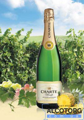 Винний напій Шарте Ананас біле напівсолодке, Charte Pineapple 0,75 л.