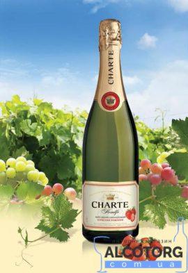 Винний напій Шарте Полуниця рожеве напівсолодке, Charte Strawberry 0,75 л.