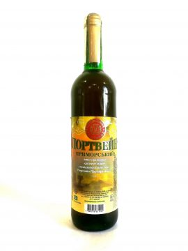 Вино Портвейн Приморський біле міцне Котовськ 0,7 л.