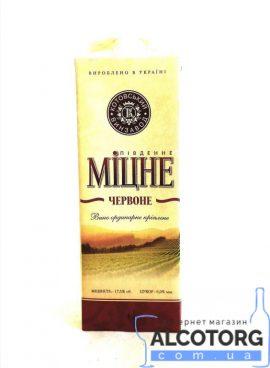 Вино Міцне червоне Котовськ 1 л.