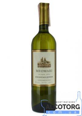 Вино Алазанська долина Меомарі біле напівсолодке, Meomari 0,75 л.