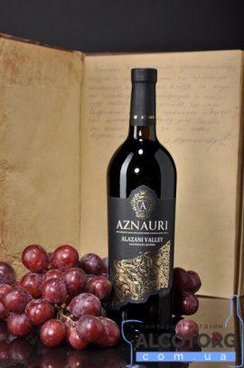 Вино Алазанська Долина Азнаурі червоне напівсолодке, Aznauri 0,75 л.