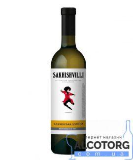 Вино Алазанська Долина Сахішвілі напівсолодке біле, Sakhishvilli 0,75 л.