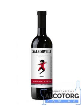 Вино Алазанська Долина Сахішвілі Напівсолодка червона, Sakhishvilli 0,75 л.