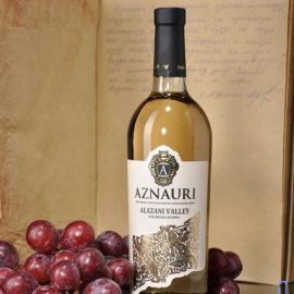 Вино Алазанська Долина Азнаурі біле напівсолодке, Aznauri 0,75 л.