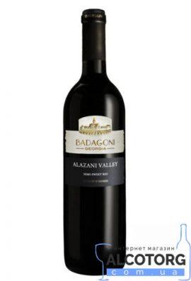 Вино Алазанська Долина Бадагоні червоне напівсолодке