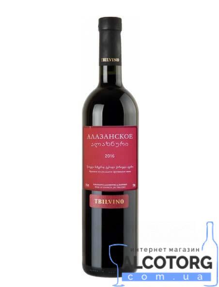 (Русский) Вино Алазанская Долина Тбилвино красное полусладкое, Alazani Valley red Tbilvino 0,75 л.