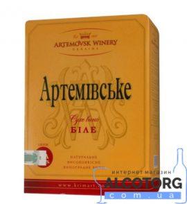Вино Артемівське біле сухе 3 л.