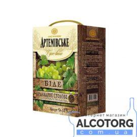 Вино Артемівське біле сухе 3 літри.