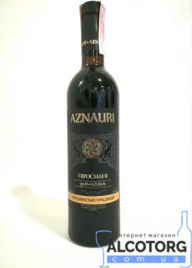 Вино Піросмані Азнаурі червоне напівсолодке, Aznauri 0,75 л.