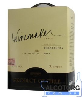 Вино Шардоне біле сухе Вайнмейкер, Winemake 3 л.