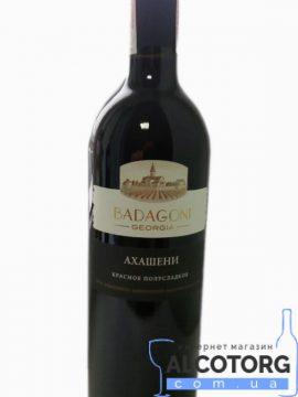 Вино Ахашені Бадагоні червоне напівсолодке, Badagoni 0,75 л.