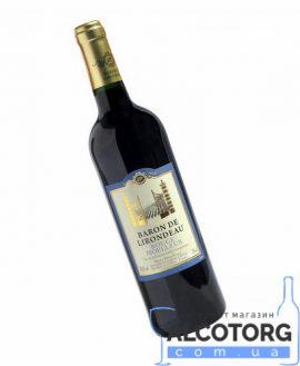 Вино Барон Лірондо червоне напівсолодке, Baron de Lirondeau 0,75 л.