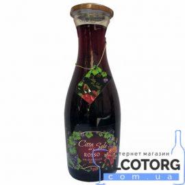 Вино Белла Віта Россо червоне напівсолодке, Citta del Sole Rosso 1 л.