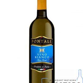 Вино Біле напівсолодке Фонтале, Vino Bianco Semi Sweet Fontale 0,75 л.