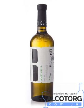 Вино Блан Селект Болград напівсолодке біле, Blanc Select Bolgrad 0,75 л.