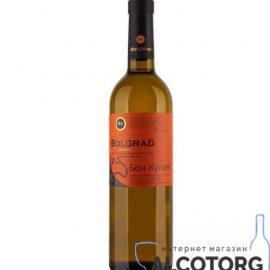 Вино Бон Купаж напівсолодке біле Болград 0,75 л.