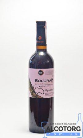 Вино Мускатне Селект напівсолодке червоне Болград 0,75 л.
