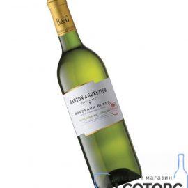 Вино Бордо Блан Бартон & Гестьє біле сухе, Bordeaux Blanc Barton & Guestier 0,75 л.