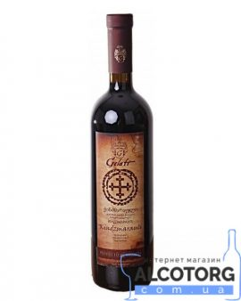 Вино Кіндзмараулі Гелаті червоне напівсолодке, Gelati Kindzmarauli 0,75 л.