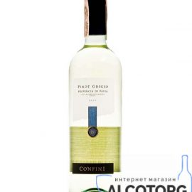 Вино Піно Гріджио Конфіні біле сухе, Confini Pinot Grigio 0,75 л.