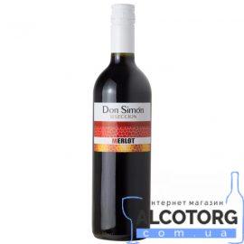 Вино Дон Сімон Мерло сухе червоне, Don Simon Merlot 0,75 л.