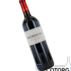 Вино Дурт №1 Бордо AOC 2008 червоне сухе, Dourthe № 1 Bordeaux AOС rouge 2008 0,75 л.