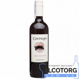 Вино Гато Негро напівсолодке червоне, Gato Negro red semi sweet 0,75 л.
